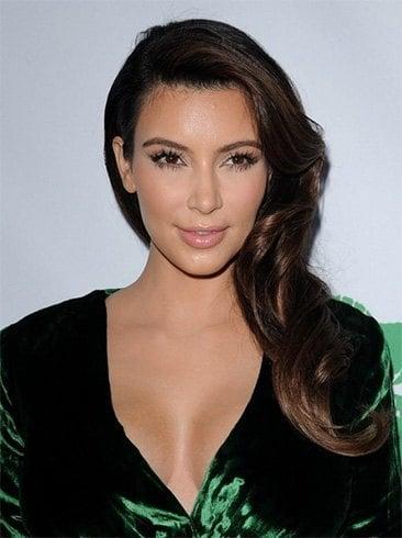 Kim Kardashian side sweep