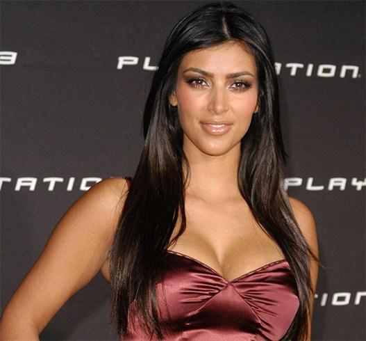 Kim Kardashian Straight Hairstyle