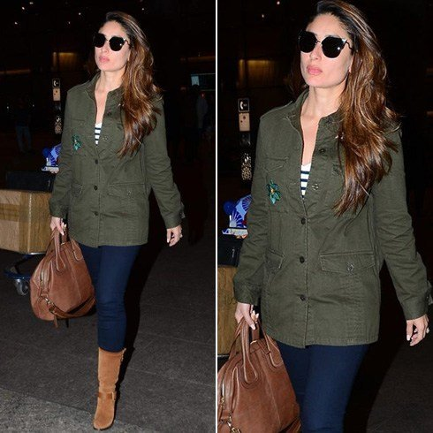 Kareena in Zara jacket
