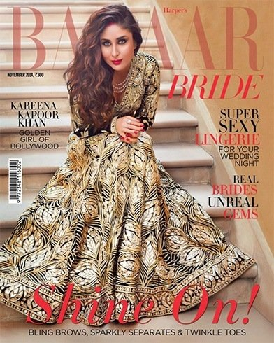 Kareena Kapoor on Harpers Bazaar Bride