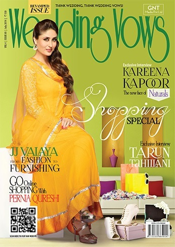 Kareena Kapoor on the cover of Wedding Vow