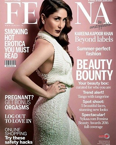 Kareena Kapoor On The Magazine Cover Page