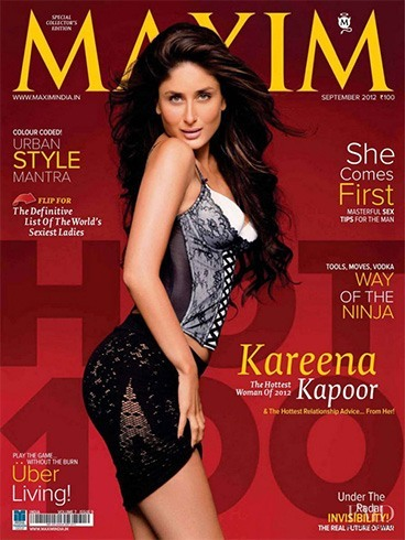 Kareena Kapoor on the Maxim India cover
