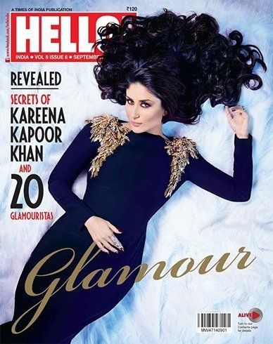Kareena on Hello magazine cover