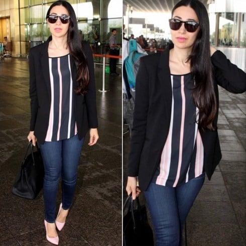 Karisma Kapoor airport style