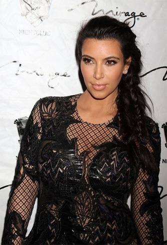 Kim Kardashian Messy Braid