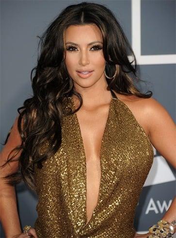 Kim Kardashian long curls
