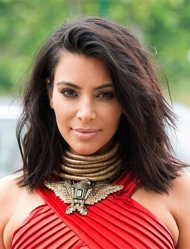 Kim Kardashian short hair