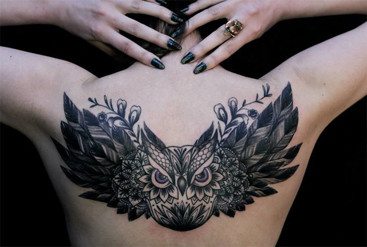 Large Owl Tattoos