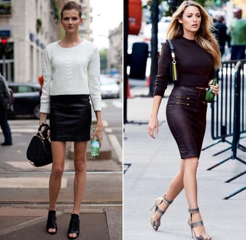 Leather Pencil Skirts