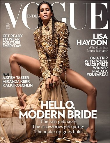 Lisa Haydon on Vogue India