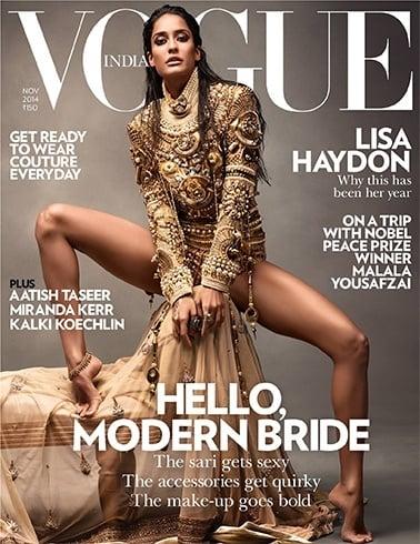Lisa Haydon on Vogue India