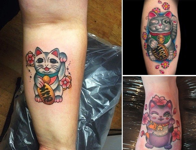 Lucky Cat Tattoo Designs