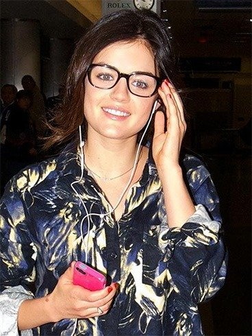 Lucy Hale oversized spectacles