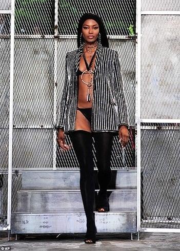 Naomi Campbell at Givenchy runway