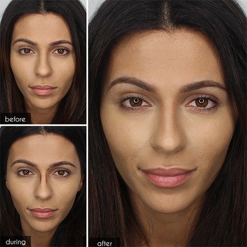 how to get a smaller nose without makeup