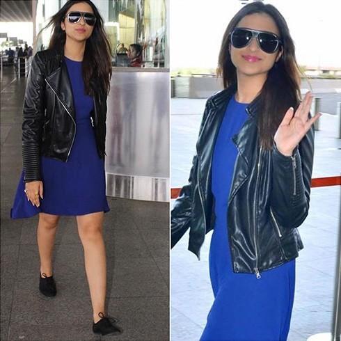 Parineeti Chopra blue dress
