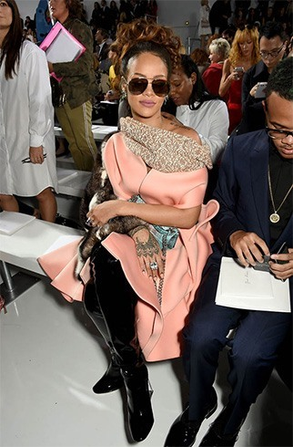 Rihanna at the Christian Dior show