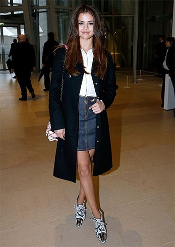 Selena Gomez at Louis Vuitton show
