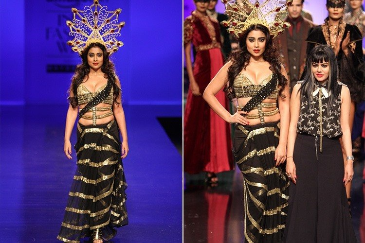 Shriya Saran for Anaikka at AIFW 2016