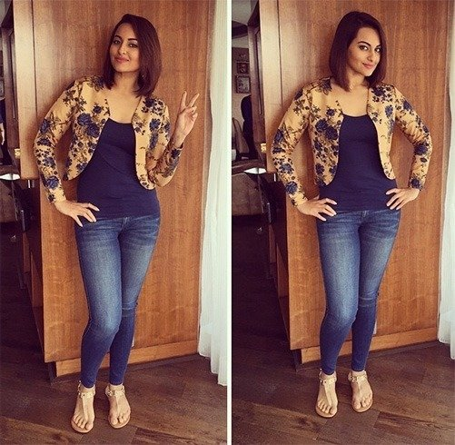 Sonakshi Sinha in jeans