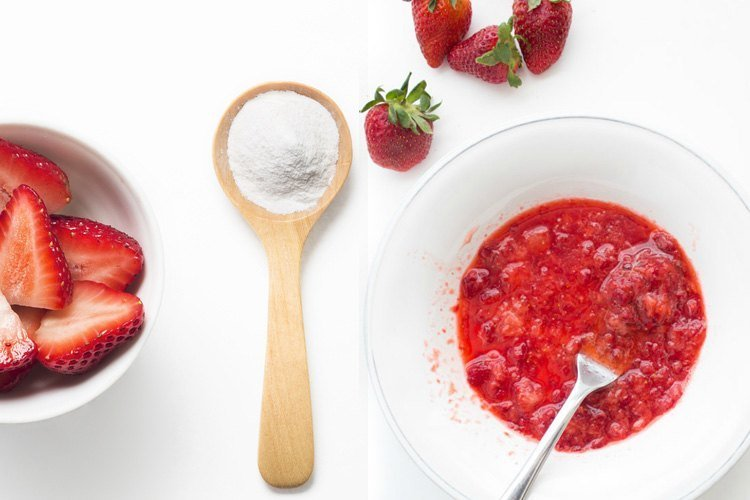 Strawberry for whitening teeth
