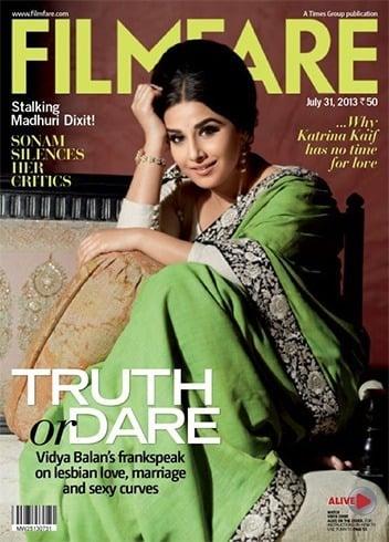 Vidya BalanOn The Magazine Cover Page