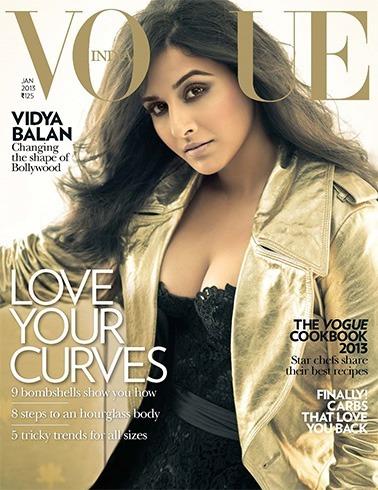 Vidya Balan on Vogue 2013