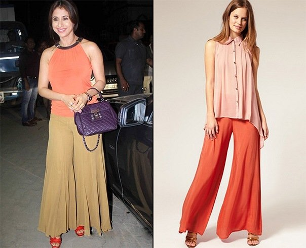 8892cc9cc3 How To Wear Palazzo Pants   With What - 30 Different Ways