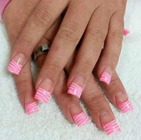 Zebra Pink Nail Art Designs