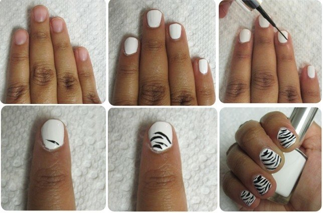 Zebra Stripe Nail Art Designs Hession Hairdressing