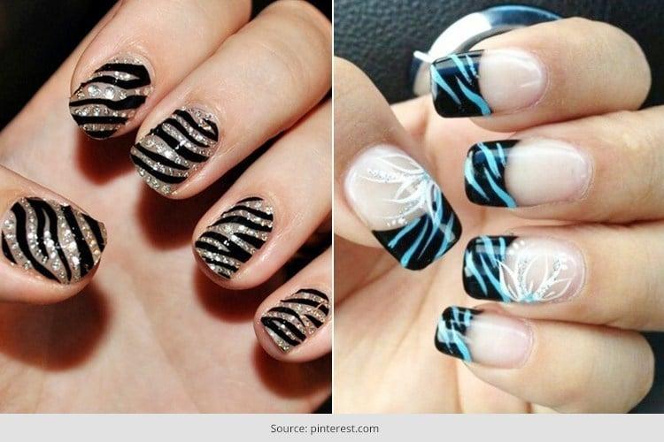 Animal Fantasy Comes Alive With Zebra Print Nail Art . - Animal Fantasy Comes Alive With Zebra Print Nail Art