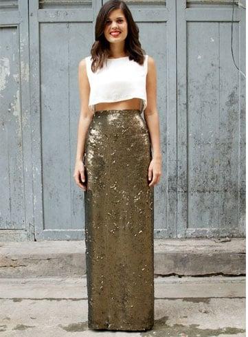 A Long Sequin Skirt