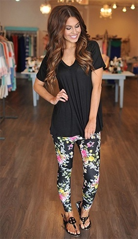 Best ways to wear patterned leggings