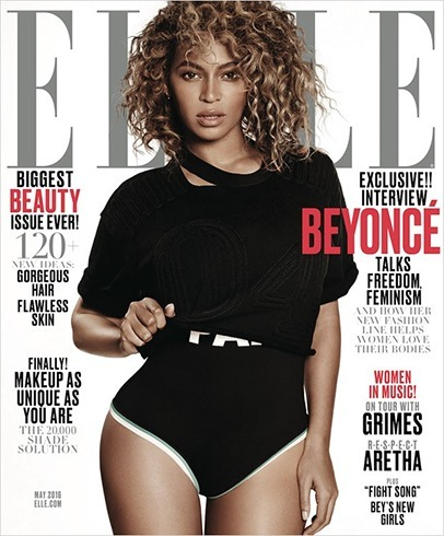 Beyonce on Elle Magazine Covers