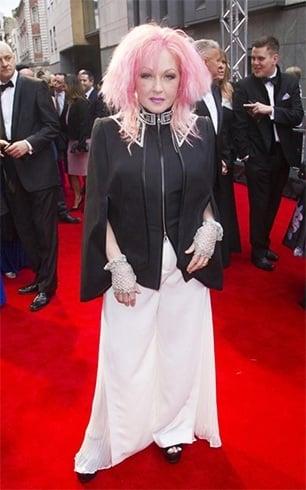 Cyndi Lauper at Olivier Awards