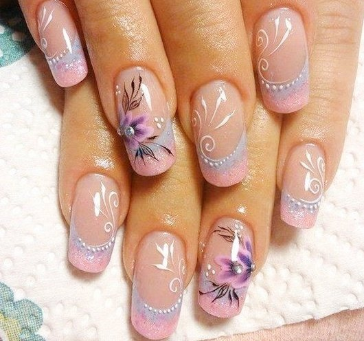130 easy and beautiful nail art designs 2018 just for you flower nail art 67 dont like loud designs opt for this gray and white combination for a subtle look prinsesfo Images
