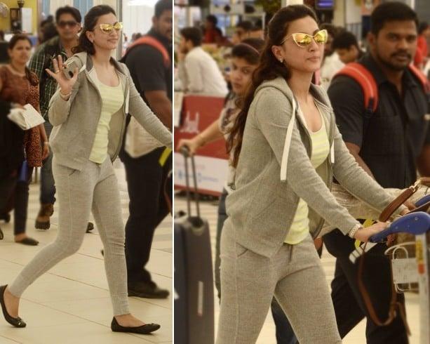 Gauhar Khan Airport Fashion