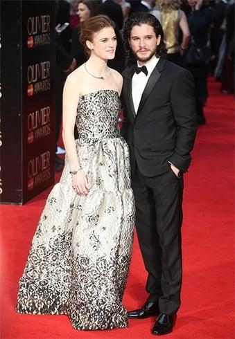 Kit Harrington and Rose Leslie at Olivier Awards