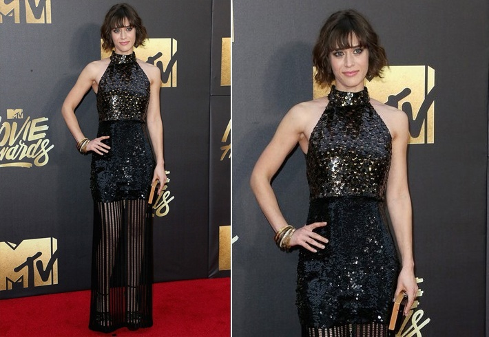 Lizzy Caplan in Sally LaPointe At Mtv awards