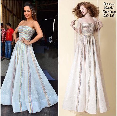 Malaika in Rami Kadi gown