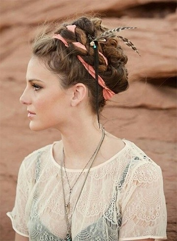 Messy Bohemian Hairstyles For Short Hair