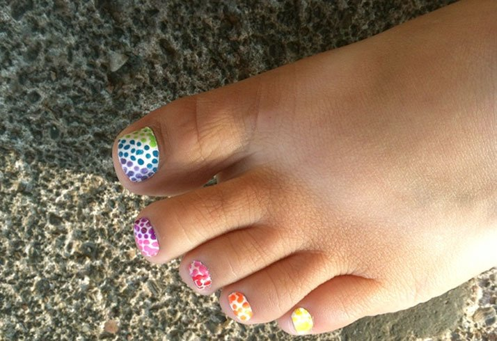 Multi colored Rainbow Dots