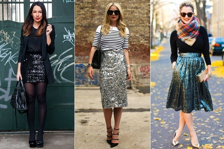 5c60b63fa5f529 15 Ways To Style Your Sequin Skirt Outfit This Season .