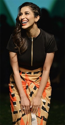 Sophie Chowdry In Masaba Gupta at LFW