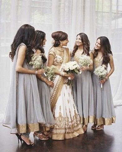Summer wedding makeup for bridesmaids