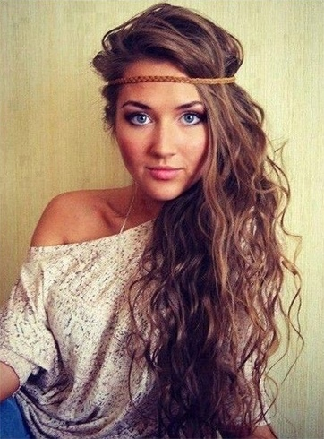 Wavy Bohemian Hairstyles For Long Hair