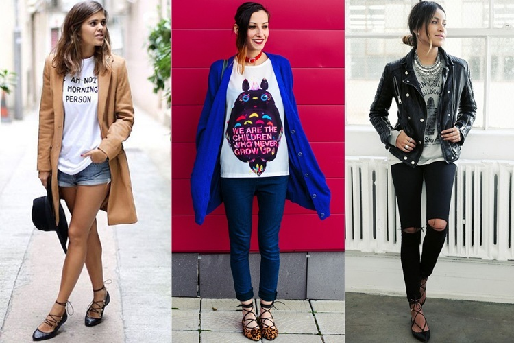 What To Wear With Lace Up Flats