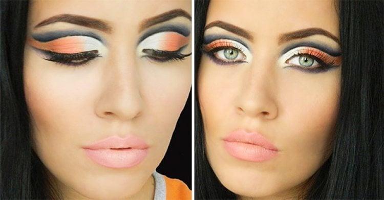 Sehr verführerische arabische Augen Make-up Looks für die Sommernacht Parteien