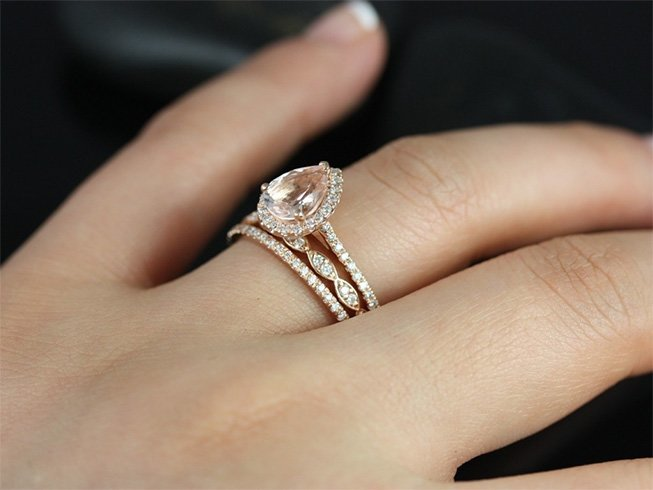 Bridesmaid ring for wedding